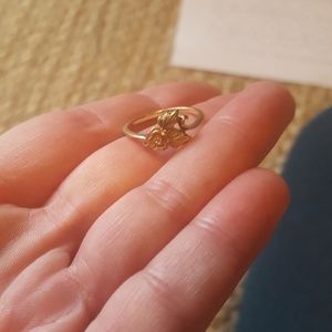Black hills gold ring with rose